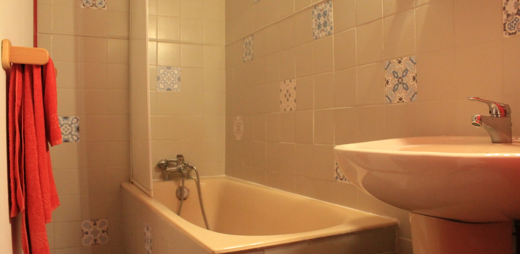 Salle de bain de la chambre Machu Picchu la caminaira