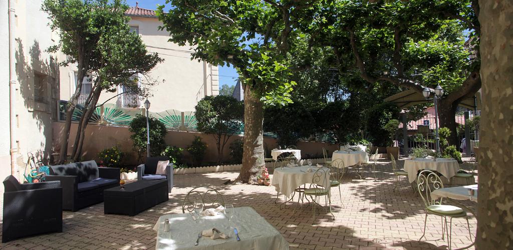 Terrasse basse Hôtel des thermes - terrasse basse