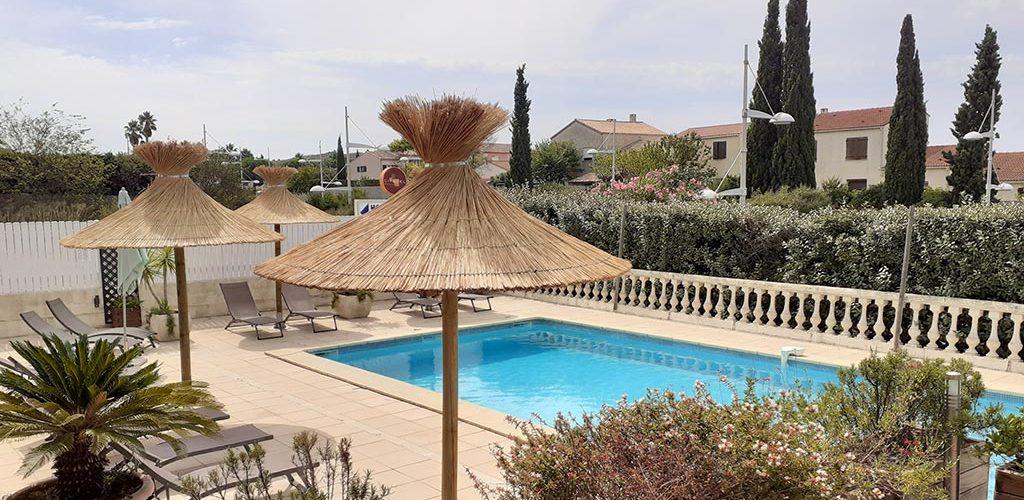 Hôtel Athena à Agde - La piscine Christian Baruffaldi