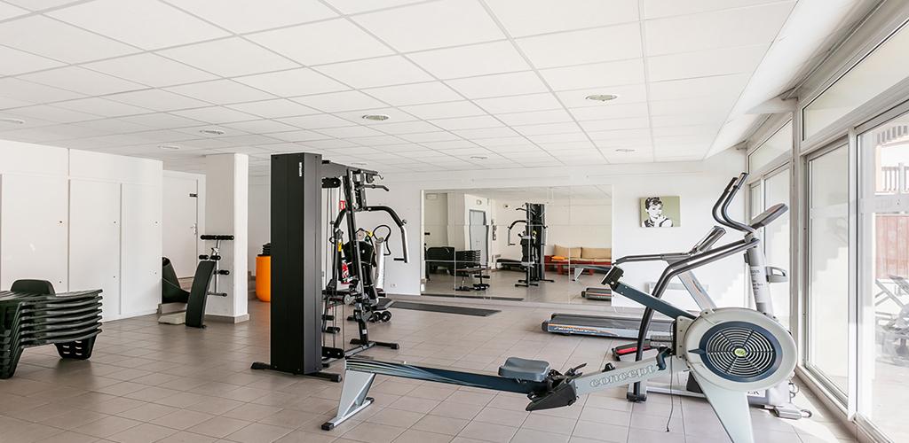 Résidence Vacancéole Le Saint Clair ** au Cap d'Agde - La salle de sport 2019-Vacancéole-OT Cap d'Agde Méditerranée