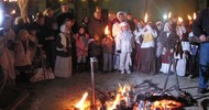 WINTER SOLSTICE TRADITIONAL PROCESSION WITH TORCHES