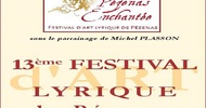 "13TH EDITION OF THE ART LYRIQUE FESTIVAL IN PÉZENAS - ""PÉZENAS ENCHANTÉE"""