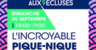 ANNULE - L'INCROYABLE PIQUE-NIQUE - RENDEZ-VOUS AUX 9 ECLUSES