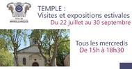 VISITES ET EXPOSITIONS ESTIVALES AU TEMPLE DE MARSILLARGUES