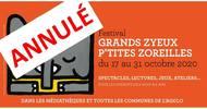 ANNULATION - LATULU - FESTIVAL GRANDS ZYEUX P'TITES ZOREILLES