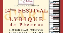 "14TH EDITION OF THE LYRIC ART FESTIVAL ""PÉZENAS ENCHANTÉE"""