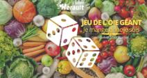 JEU DE L'OIE GÉANT - JE MANGE DONC JE SUIS