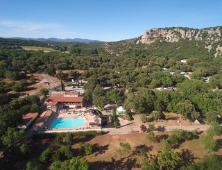 photo drone camping Val d'Hérault