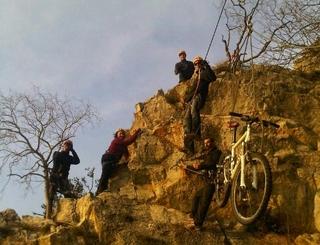 vélo suspendu et remontée du groupe Cyrpéo