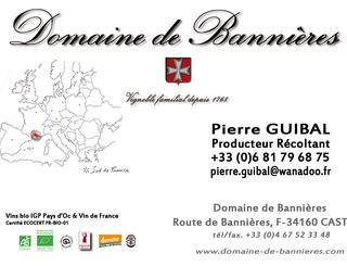 Domaine de Bannières carte-de-visite