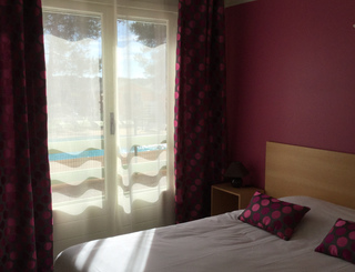 Les Rocailles chambre2 Montagnac Hôtel Les Rocailles
