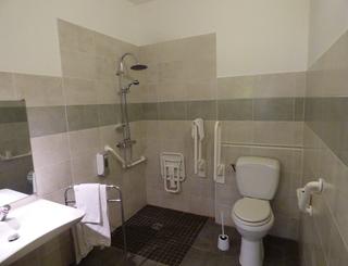 P1030129 salle d'eau de la chambre PMR