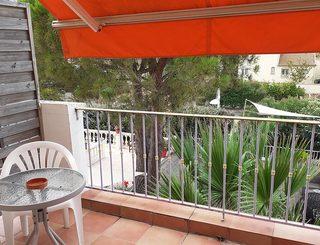 Hôtel Athena à Agde - Le balcon d'une chambre Christian Baruffaldi