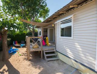 Camping tamaris beach farret vias for Isolation exterieur mobil home