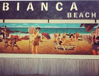 Entrée du Bianca Beach, plage Richelieu au Cap d'Agde