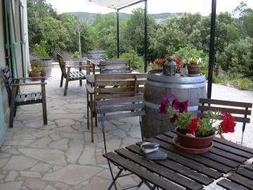 La terrasse avec vue panoramique où sont servis vos petits déjeuners Gîtes de France