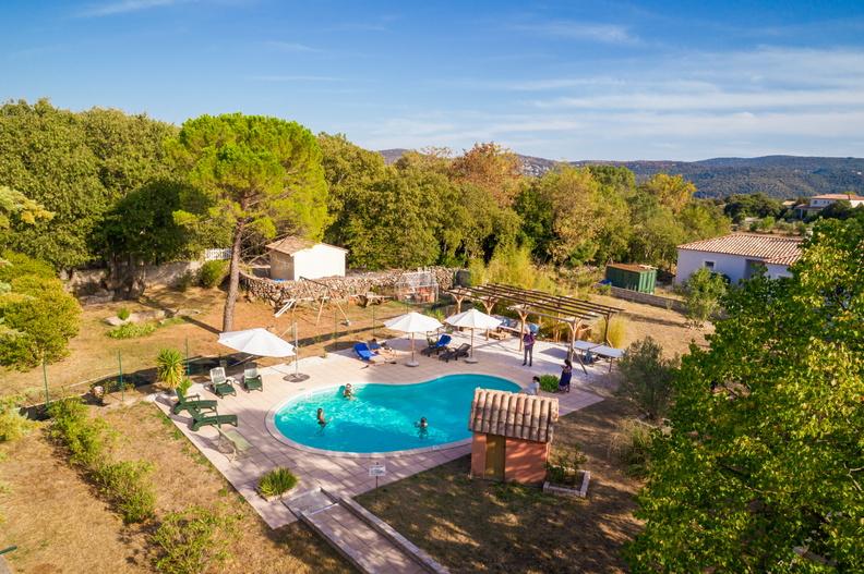 Vue aérienne de la maison herve leclair / aspheries.com