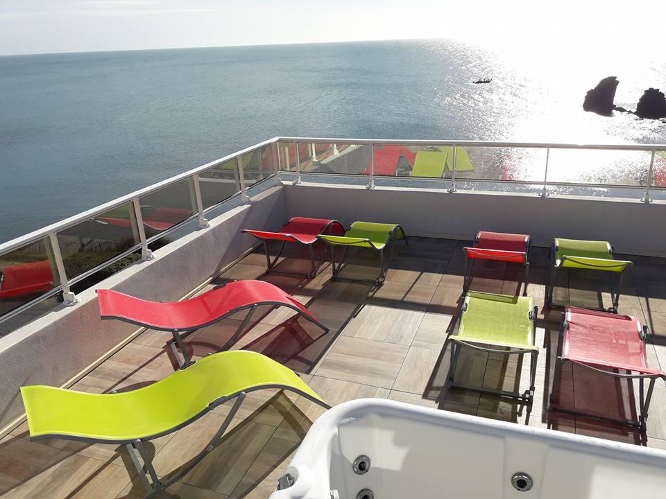 Hôtel La Grande Conque*** au Cap d'Agde - Solarium vue sur mer 2019-Hôtel La Grande Conque
