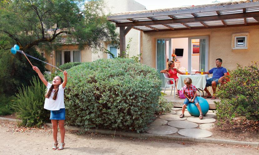 Résidence Belambra - L'extérieur d'un logement (jardin et terrasse) Résidence Belambra